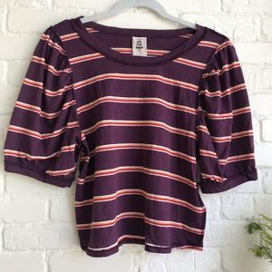 Free People We the Free crop Stipe t-shirt New